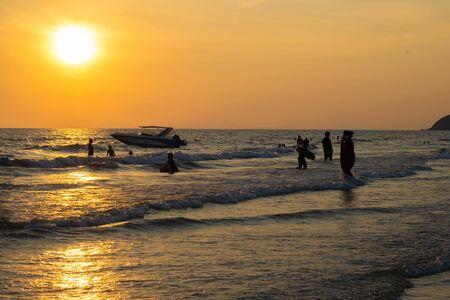 thailand beach view with sunset Reklamní fotografie