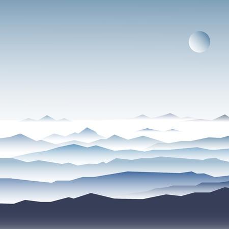 ridge: Stock Illustration  mountain ridges