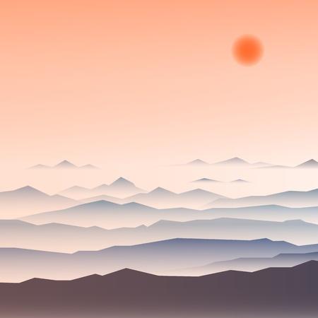 ridges: Stock Illustration  mountain ridges