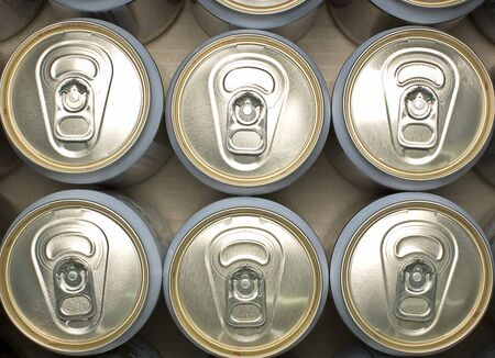 Cans in brown carton