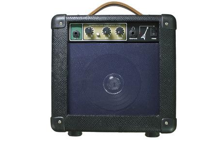 amp: Guitar Amp black on white. Stock Photo