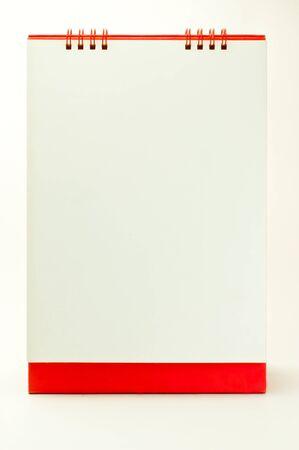 desktop calendar: Desktop Calendar red to make the drawing board on a white background.