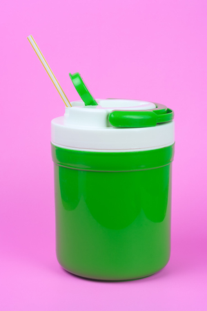 Cold water and drinking straws. Reduce the use of plastic water (PET) bottles concept. These can be used several times without wasting natural resources and reducing global warming.