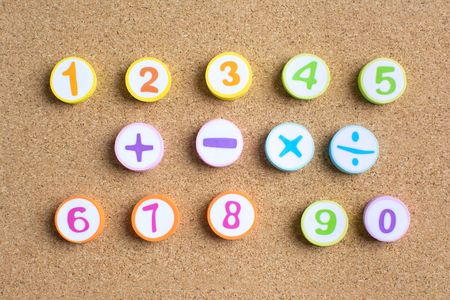 The number of children in kindergarten is 1 to 10 In mathematics To bring to the teaching.