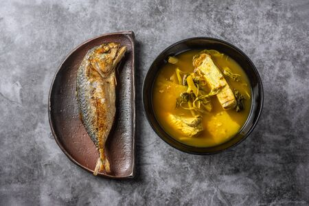 Spicy and sour food with snapper and Fried Mackerel is a delicious Southern Thai recipe.
