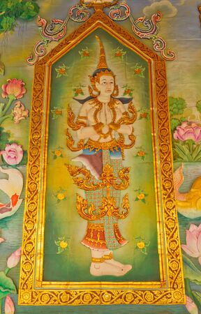 Thai 's Art on the walls Stock Photo - 11887035
