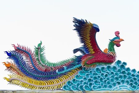 ancient bird: Phoenix statue Chinese style