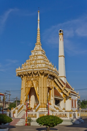 pyre: Thai Crematory in Temple