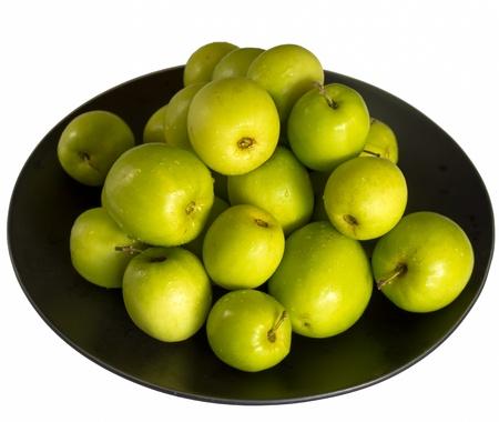 Monkey apple fruit on the black dish