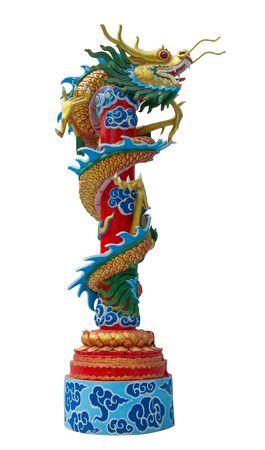 Chinese Dragon Isolate Background Stock Photo