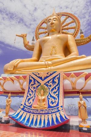 Big Buddha on the blue sky background