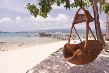 Hang seat on the beach of thailand