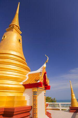 Beautiful temple on bluesky