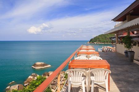 Restaurant on island in thailand Editorial