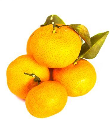 Oranges on White Background Stock Photo
