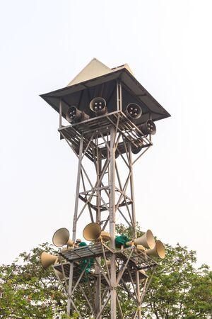 Megaphone Tower Stock Photo