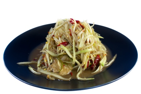 slatternly: thai papaya salad Stock Photo