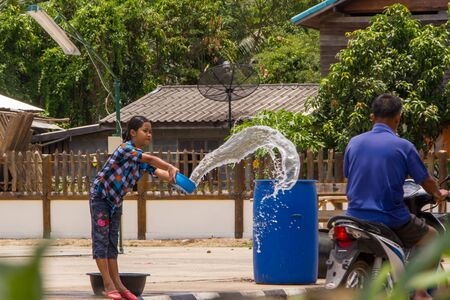 Songkran day thai newyear