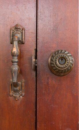 Knob of wooden door