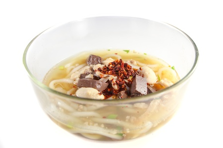noodles of Vietnam food on white background