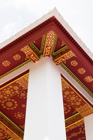 thai pattern on tha wall