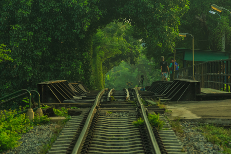 BangkokThailand-Nov 14,long tunnel of love in Thailand on Nov 14 ,2015. Publikacyjne