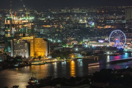 BangkokThailand-August 3 : The cityscape from Urbanno tower on the 27 th floor on August3 ,2015 in Bangkok,Thailand. Publikacyjne