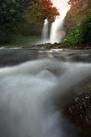 Tad E Tu Waterfall, Bolaven plateau, Laos Zdjęcie Seryjne