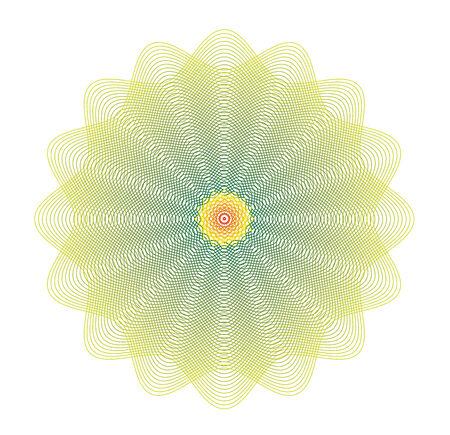 oscillation: la meditaci�n de la flor de loto lleno de esperanza y amor Vectores