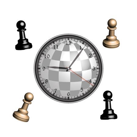 king master: Time in the form of a chess game