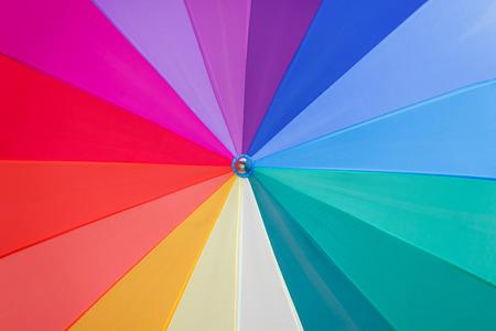 to seem: multicoloured wedges umbrella  seem a vortex of colours