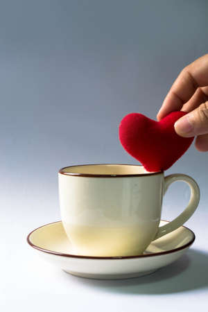 valentine's: Valentine s Day a cup of hearts  Stock Photo