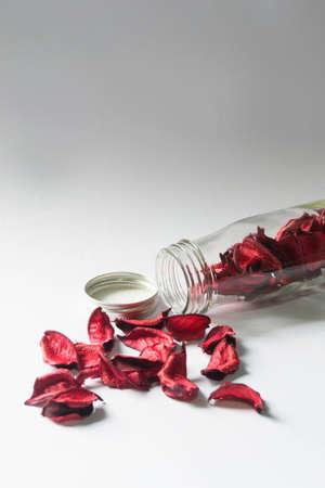 bolsita: Sachet Flor en la botella de cristal