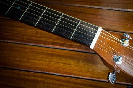 boehm flute: guitarra Foto de archivo