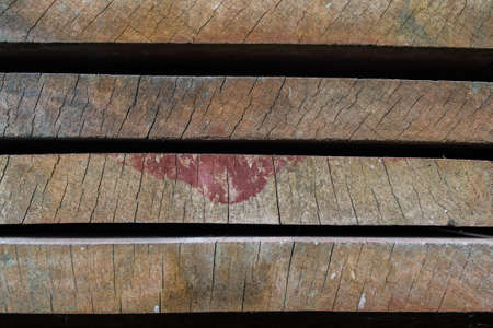 Stack of wooden bars photo