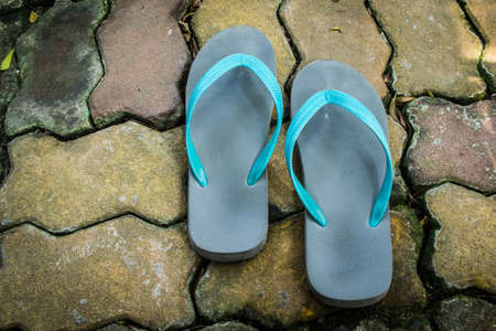slippers: slippers outdoors Stock Photo