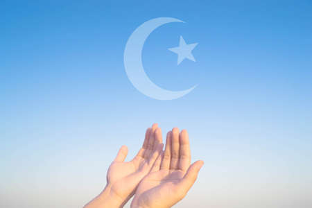 sufism: two hands muslim praying