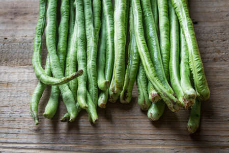 long bean: organic long bean Stock Photo