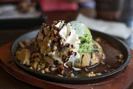 jugo verde: Verde helado de t� y galletas