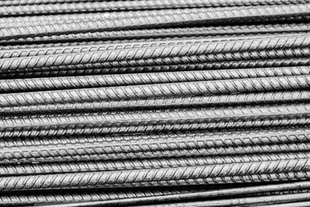 metalic texture: Steel bars background Stock Photo