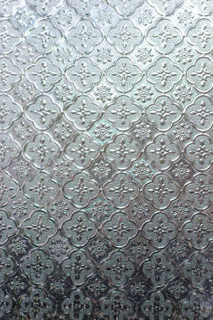 stained glass panel: glass with patterns