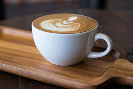 coffee froth: cup of latte coffee Stock Photo