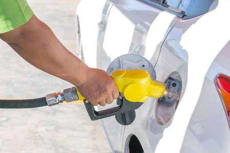 natural gas prices: Fuel your car Stock Photo