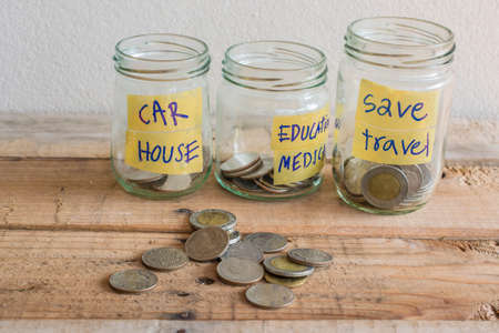 earn money: Money Saving concept Stock Photo
