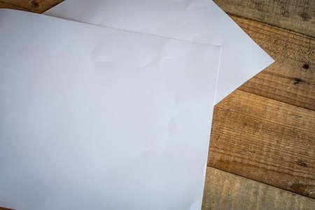 white sheet: Sheet of white paper Stock Photo