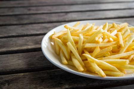 papas fritas: franc?s fries Foto de archivo