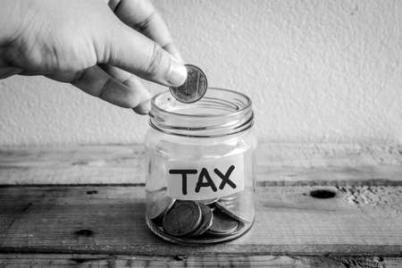 taxpayers: Money Saving concept for taxpayers Stock Photo