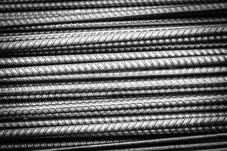 Steel bars background Stock Photo