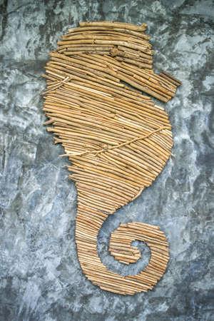 caballo de mar: Un caballo de mar de madera