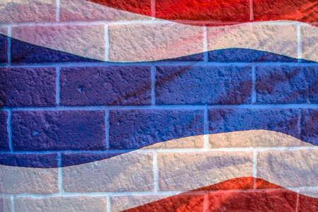 flagstaff: Flag of Thailand on brick wall